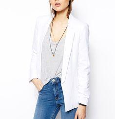 White longline blazer- tailored. Summer essential