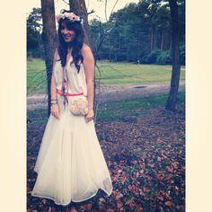 Gypsy wedding dress, bohémien, flowercrown
