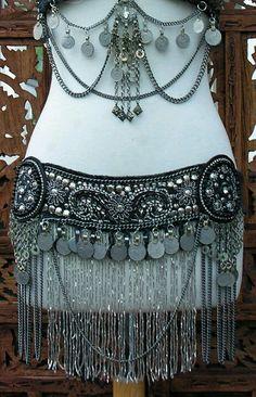 Costumes amazing bead work beads beadwork tribal exotic belly dancer burner