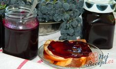 grape jam (in slovak) Hroznový džem Grape Jam, Preserving Food, Homemade Gifts, Preserves, Waffles, French Toast, Sweet Tooth, Cheesecake, Pudding