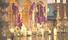 Dekoracje na ślub i wesele w Krakowie Lilac Flowers, Wedding Flowers, Church Decorations, Candles, Valentines Day Weddings, Wedding, Dekoration, Dwarf Lilac, Candy