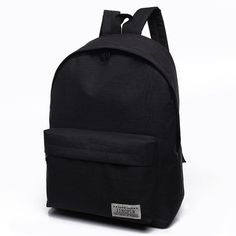 Unisex Men Canvas Black Backpack College Student School Backpack Bags For Teenagers Mochila Casual Rucksack Travel Daypack Laptop Backpack, Travel Backpack, Backpack Bags, Fashion Backpack, Backpack Outfit, Colorful Backpacks, Cheap Backpacks, School Backpacks, Canvas Backpacks