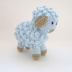 Amigurumi Little Blue Sheep / Lamb Handmade Crocheted Soft Toy. $12.00, via Etsy.