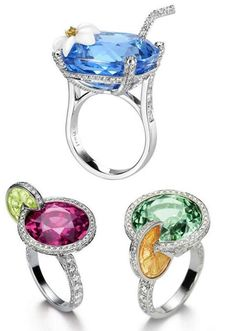 Cocktail Rings - http://www.piaget.com/jewelry/white-gold-chalcedony-diamond-ring-g34lm200