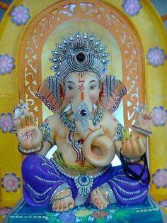 Jai Ganesha. Birtthday soon...blue is interesting on Ganesh, who scribes the eternal blue books of veda.
