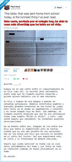 """VEF > Visto en las Redes > La hilarante carta que recibe un padre del colegio advirtiendo de los """"juegos"""" de su hijo pequeño"""