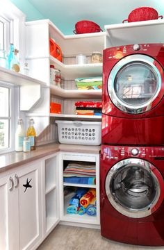 Laundry Room in Garage Ideas with Simple Treatment | Home Designs