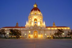 Completed in 1927, Pasadena City Hall serves as the central location for city government in the City of Pasadena, California and it is a significant architectural example of the City Beautiful movement of the 1920s.