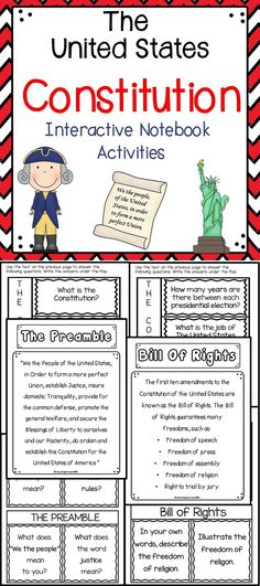 The United States Constitution - This is an engaging supplemental activity to use when teaching your students about the Constitution.