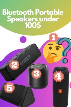 Are you looking best Bluetooth Portable Speakers under 100$ then you comes in right Pins. here I attach Best Bluetooth Portable Speakers under 100$ 1. OontZ Angle 3 (3rd Gen) - Bluetooth Portable Speaker 2. JBL FLIP 4 3. Anker Soundcore Mini 4. DOSS SoundBox Touch Portable Wireless Bluetooth Speakers 5. Anker Soundcore 2 Portable Bluetooth Speaker  #top5 #speakers #oontZspeaker #jblflip4 #anker #doss #ankerspeaker Best Portable Bluetooth Speaker, Waterproof Bluetooth Speaker, Jbl Flip 4, Amazon Sale, Best Build, Top 5, The 100, Technology, Mini
