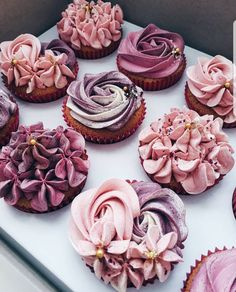 Gorgeous floral inspired cupcakes for a baby girl baby shower.