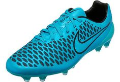 Nike Magista Opus FG Soccer Cleats - Blue and Black. Available at www.soccerpro.com right now!