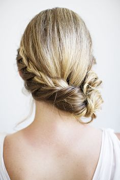 Side bun braid
