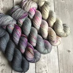 "More five skein combos ""Subtle Vibes"" on Classic Sock are available in the shop now. A Merino Singles version and another neutral option…"