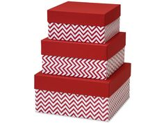 CHEVRON RED NESTED BOXES