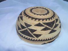 Vintage Native American HUPA KARUK or Yurok Basket Ceremonial Cap Hat Pristine | eBay