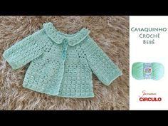 Casaquinho em Crochê para bebê passo a passo Prof. Simone Eleotério - YouTube Crochet Bebe, Crochet For Kids, Baby Sweaters, My Style, Fashion, Crocheted Baby Afghans, Crochet Baby Clothes, Crochet Toddler, Hat