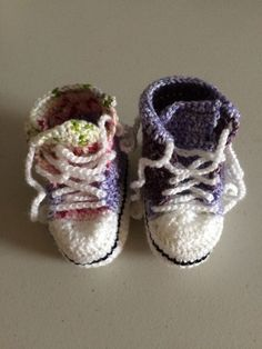 Handmade Crocheted Multi Coloured  Converse  Style Baby Booties Baby Booties, Baby Shoes, Converse Style, Handmade Baby, Booty, Homemade, Kids, Ebay, Fashion