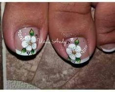 Toe Nail Color, Toe Nail Art, Toe Nails, Nail Colors, Pedicure Designs, Toe Nail Designs, Summer Toe Designs, The Art Of Nails, Sunflower Nails