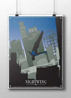 Original design for Nightwing The Blue Version in the Gotham by Night Series.  High quality print of my artwork, unframed 16 x 20 with a white border