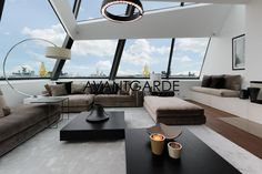 Exceptional Living.  (Luxury Real Estate Vienna)  #luxuryliving #Penthouse #vienna #avantgardeproperties Outdoor Sectional, Sectional Sofa, Luxury Living, Luxury Real Estate, Outdoor Furniture, Outdoor Decor, Living Rooms, Home Decor, Luxury
