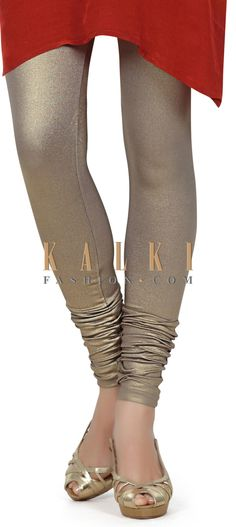 Buy this Featuring shimmer grey legging only on Kalki