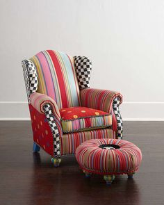 MacKenzie-Childs Wee Wing Chair & Tuffet on shopstyle.com