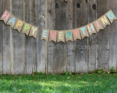 HAPPY EVERYTHING burlap banner