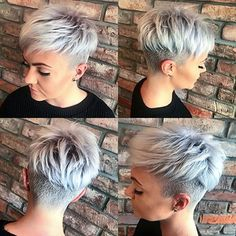 Hottest pixie hairstyles for short hair to wear in 2019 Short Grey Hair Hair Hairstyles Hottest Pixie Short Wear Cabelo Pixie Undercut, Pixie Cut With Undercut, Short Hair Undercut, Undercut Women, Funky Short Hair, Short Grey Hair, Grey Pixie Hair, Super Short Hair, Straight Hairstyles