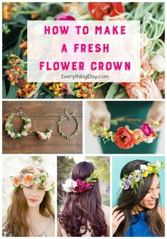 Fresh flowers can create the most beautiful DIY crown to make any day extra special. I could use one of these right now. What? I could be a princess blogger for the day. {What would the neighbors thin