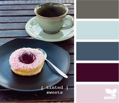 tinted sweets - I'm not a purple fan but I have to say I love that bright pop of purple with the blues and blue/grays