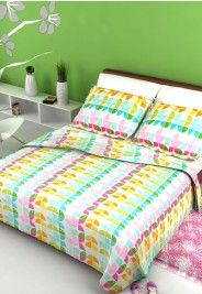 Zinnia Double Bedsheet With 2 Pillow Covers