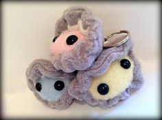 Handmade Pearl The Clam Keychain Plush by Plusheeze on Etsy