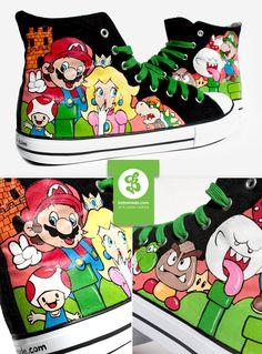 Super Mario Shoes by Bobsmade.deviantart.com on @deviantART