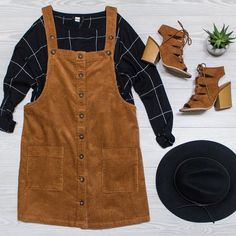 Killin' It In \Corduroy\ Shop these items and more online under the shopable posts tab. www.shopelysian.com All Blacked Out Wool Hat $32. in-store only.  Pocket Plaid Knit Top $68. online  in-store. Corduroy Overall On Me Dress $48. online  in-store. Chestnut Sawyer Bootie $42. online  in-store. #wearelysiandaily http://ift.tt/2dLDmHM Killin' It In \Corduroy\ Shop these items and more online under the shopable posts tab. www.shopelysian.com All Blacked Out Wool Hat $32. in-store only…