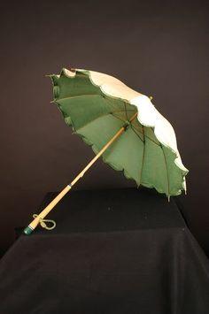 Parasol Rain Umbrella, Under My Umbrella, Go Green, Green Colors, Beach Rain, Antique Fans, Umbrellas Parasols, Blue Pumps, Faeries