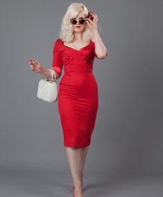 Hollywood Shirtdress – Red