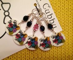 High Fiber Diet NON SNAG Stitch Markers from Knit Chubby on etsy