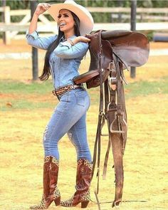 You can wear jeans, skirts, dresses, or maybe nothing but always remember to match them with boots and high heels. Real Country Girls, Country Girls Outfits, Country Girl Style, Country Women, Country Dresses, Country Music, Sexy Cowgirl Outfits, Cute Outfits, Cow Girl Outfits