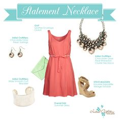 Simple dress with a statement necklace from Initial Outfitters!