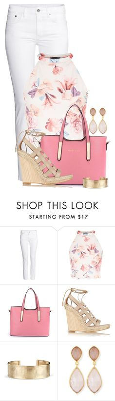Dina by colierollers on Polyvore featuring H&M, Aquazzura, Dina Mackney and Blue Nile