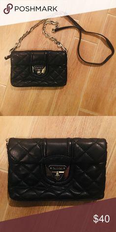 3de214d6205 Shop Women's Calvin Klein Black size OS Crossbody Bags at a discounted  price at Poshmark. Description: Black LEATHER QUILTED Calvin Klein  crossbody bag with ...
