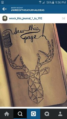 Wreckthisjournal - sew this page