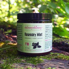 Rosemary and Mint Organic Foot Scrub   skinnyskinny organics