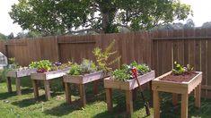 Furniture, Creative DIY Backyard Vegetable Garden House Design Using Pallet Wood For Raised Bed Garden Planter Boxes With Legs Ideas ~ Wood Garden Box