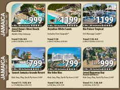 Jamaica Vacation Specials with Air from Atlanta 6 nts from $799 For Details Contact http://taylormadetravel.agentarc.com  taylormadetravel142@gmail.com  call 828-475-6227