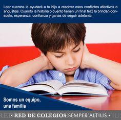 Razones por las que leer cuentos con tus hijos les da un gran beneficio a corto y largo plazo.  #Familia #Somosunequipo #SemperAltius
