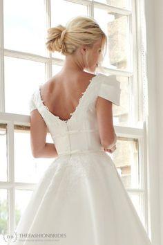 House of Mooshki 2020 Spring Bridal Collection – The FashionBrides Short Wedding Gowns, Wedding Dresses, Illusion Neckline, Bridal Collection, Flower Girl Dresses, Bride, Elegant, Lace, Champagne