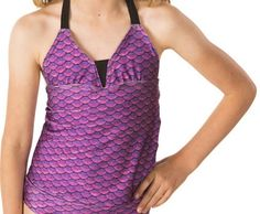 Fin Fun's mermaid swimwear for girls is clearance priced and perfect for any little mermaid. Shop now for quality mermaid themed swimsuits and bikinis at big savings! Fin Fun Mermaid, Mermaid Bikini, Mermaid Outfit, Swimsuits, Bikinis, Swimwear, Tankini Top, Swimsuit Tops, Swim Top