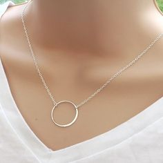 Classic and stylish, this sterling silver circle necklace is perfect for everyday wear, layering or gift giving. The circle represents karma and eternal love. We have this available with a GOOD KARMA message card here: https://www.etsy.com/listing/250508571  Components:  • sterling silver circle- 23mm • sterling silver cable chain and fittings - choose from 16 - 20  ♥♥ Your necklace will arrive gift boxed - perfect for gift giving! ♥♥  ♦-♦-♦-♦-♦-♦-♦-♦-♦-♦-♦-♦-♦-♦-♦-♦-♦ Shop…